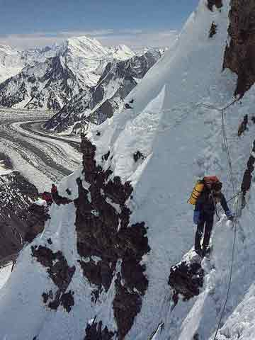 K2 First Ascent South-Southeast Spur Cesen Route - British 1983 Expedition Climbing On Steep Lower Section - Doug Scott Himalayan Climber book