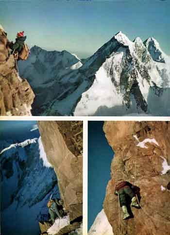 Walter Bonatti And Carlo Mauri Climb Difficult Rock Pitches High On Gasherbrum IV Northeast Ridge - Karakoram The Ascent Of Gasherbrum IV book