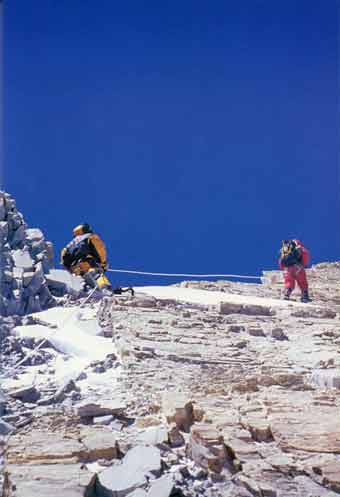 Near Annapurna Summit From The North - Los 14 Ochomiles de Juanito Oiarzabal book