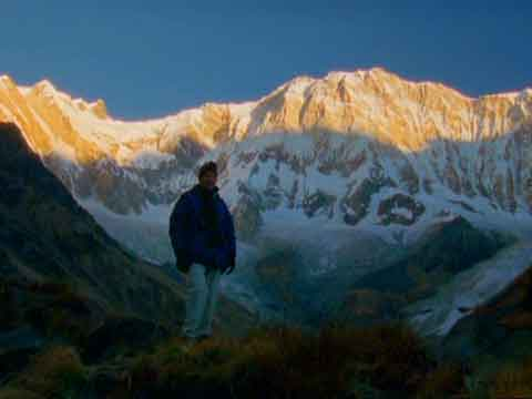 Fang To Annapurna South Face Sunrise From Annapurna Sanctuary Base Camp - Michael Palin Himalaya DVD