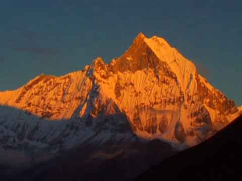 Machapuchare Sunset From Annapurna Sanctuary Base Camp - Michael Palin Himalaya DVD