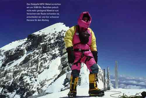 Dieter Porsche On Everest South Summit May 22, 2001 - Mount Everest, Nanga Parbat, Dhaulagiri mit Dieter Porsche book