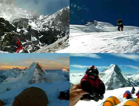 Climbing Black Pyramid And Over Snowfields To Camp 3, View Of Gasherbrums And Broad Peak From K2 Camp 3 - Murph Goes to K2 DVD