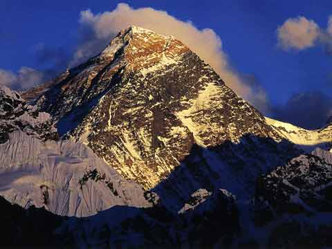 Everest North And Southwest Faces At Sunset From Scoundrels Viewpoint North of Gokyo - Nepal Kathmandu Valley, Chitwan, Annapurna, Mustang, Everest Lonely Planet Pictorial book