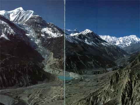 Gangapurna and Gangapurna Glacier next to Manang with Roc Noir and Grande Barriere - Nepal: The Mountains Of Heaven book