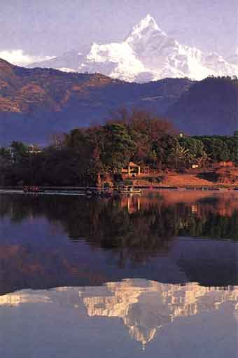 Machapuchare Reflected In Pokhara Lake Phewa - Nepalese Journey: The Essence of the Annapurna Circuit book