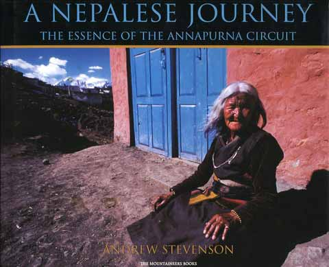 Elderly woman selling trinkets at Muktinath - Nepalese Journey: The Essence of the Annapurna Circuit book cover