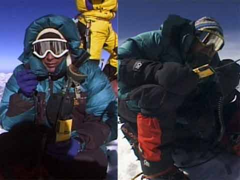 David Breashears and Ed Viesturs on Everest Summit May 23, 1997 - Everest: The Death Zone (Nova) DVD