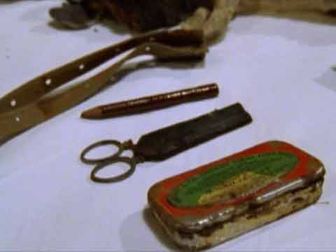 Some of George Mallory's Personal Effects found on Everest North Face May 1, 1999 - Nova: Lost On Everest DVD