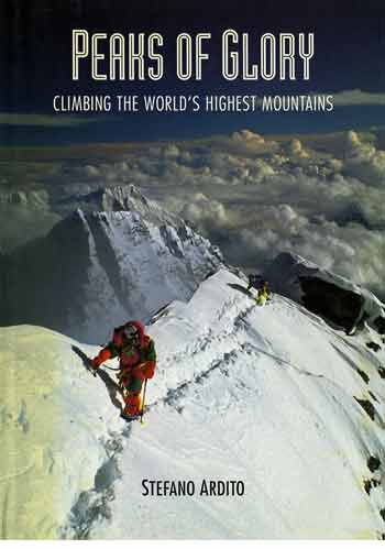 Christine Janin leads the way for Marc batard On Everest Summit Ridge Oct 5, 1990 - Peaks Of Glory book front cover