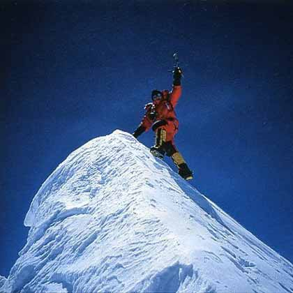 Jean-Christophe Lafaille on Annapurna Summit on May 16, 2002 - Prisonnier de l'Annapurna book