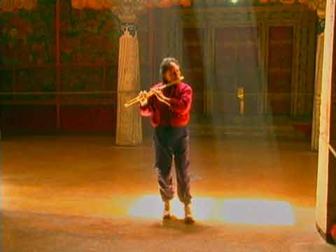 Paul Horn playing flute inside Potala Palace - Sacred Tibet The Path to Mount Kailash DVD