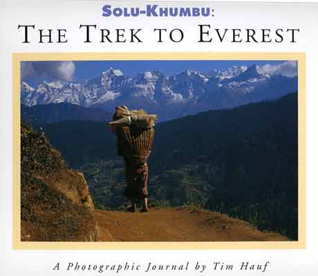 Porter and mountains - Solu-Khumbu: The Trek To Everest book cover
