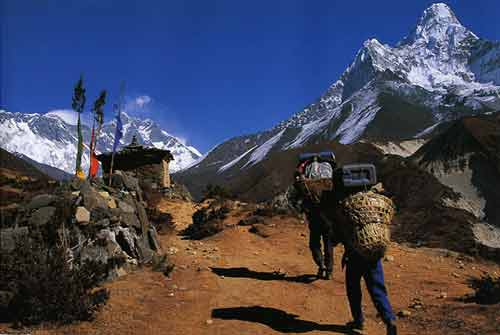 Porters Below Ama Dablam With Everest and Lhotse Beyond - Solu-Khumbu: The Trek To Everest book