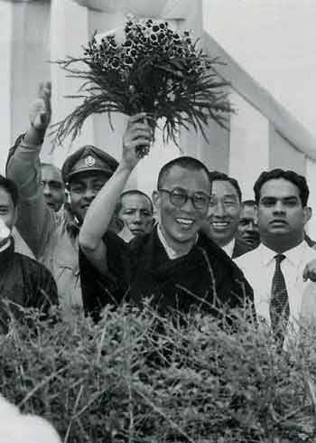 Dalai Lama after arriving in India - The 14th Dalai Lama (A&E Biography) book