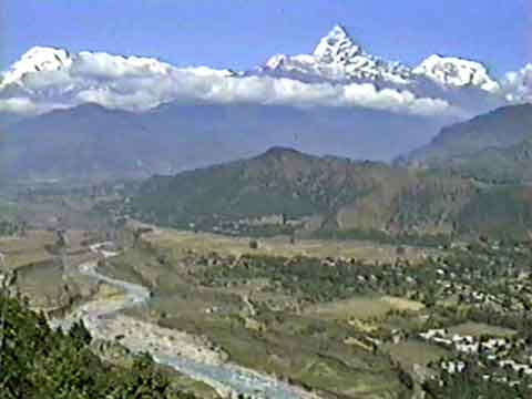 Annapurna South, Machapuchare, Annapurna III From Near Pokhara - The Annapurna Circuit: An Independent Trek In Nepal DVD