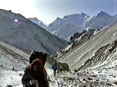 Trekking Towards Thorung La With Annapurna III and Gangapurna Behind - The Annapurna Circuit: An Independent Trek In Nepal DVD
