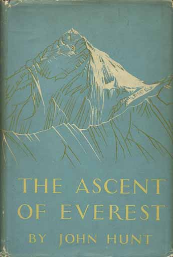 Sketch of Mount Everest sticking up above the Nuptse-Lhotse South Wall - The Ascent of Everest book cover
