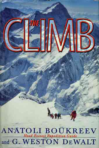 Klev Schoening And A Long Line Of Climbers On Everest Southeast Ridge on May 10, 1996 - The Climb (Anatoli Boukreev) book cover