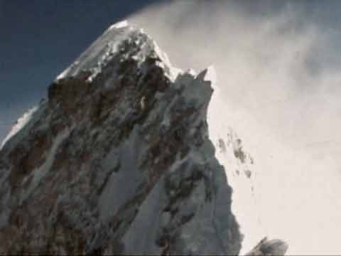 Everest First Ascent - Everest summit ridge, including the Hillary Step, from the Everest South Summit on May 29, 1953 - Conquest Of Everest DVD