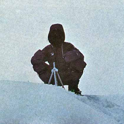 Reinhold Messner on Everest Summit after his solo ascent on August 20, 1980 - The Crystal Horizon book