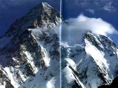 K2 South Face From K2 Base Camp - The Karakoram: Mountains of Pakistan book