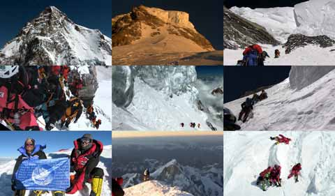 K2 Climbing Bottleneck and Traverse, Pemba Gyalje and Gerard McDonnell on K2 Summit, Descending From Summit, Reenactment Of Marco and Ger Helping Koreans - The Summit DVD