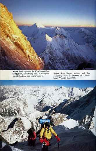 Gasherbrum IV At Sunset With Chogolisa, Tom Hargis And Tim Macartney-Snape At 7000m On Gasherbrum IV June 20, 1986 - Thin Air Encounters In The Himalaya book