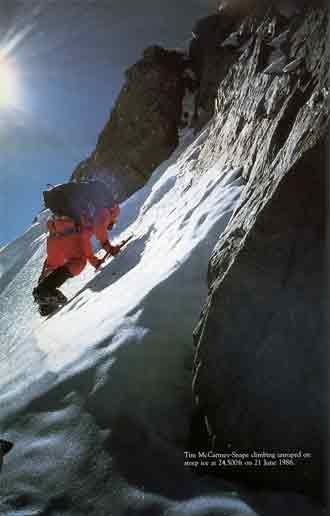 Tim Macartney-Snape Climbing Unroped At 7460m On Steep Ice On Gasherbrum IV June 21, 1986 - Thin Air Encounters In The Himalaya book