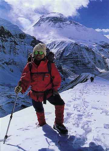 Dhaulagiri North Face from French Pass - Trekking And Climbing in Nepal book