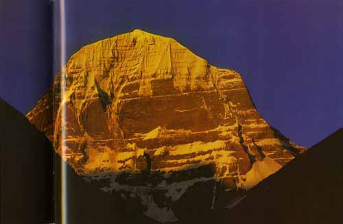Mount Kailash North face at sunset - Trekking in Himalayas book