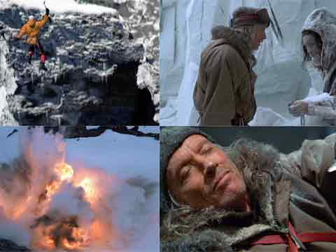 Jumping Across A Chasm, Scott Glenn Finds Dead Wife, Nitro-glycerine Explosion, Scott Glenn Cutting The Rope - Vertical Limit DVD