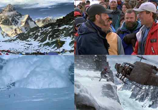 K2 Base Camp, Bill Paxton Meets Ed Viesturs, Avalanche, Jumping From Helicopter To Ledge - Vertical Limit DVD