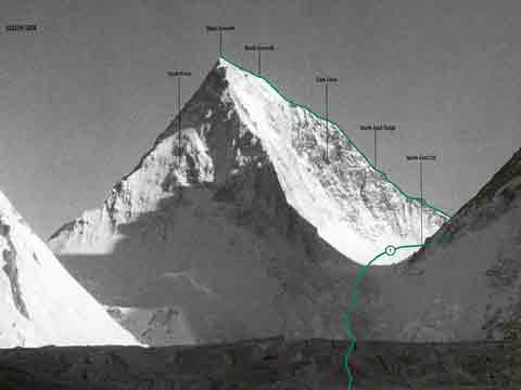 Gasherbrum IV South And East Faces And First Ascent Route - World Mountaineering: The World's Great Mountains by the World's Great Mountaineers book