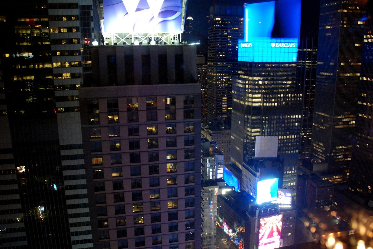New york city times square 11j view to northeast w hotel and times square after sunset from the marriott hotel view rooftop restaurant