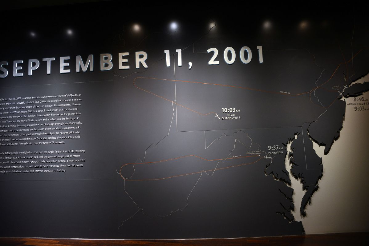 Map Of New York 2001.16 Map Showing The Sequence Of Events On September 11 2001 At 911