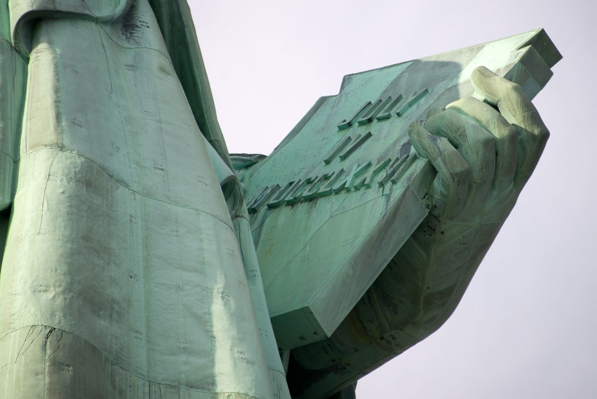 07-02 Statue Of Liberty Side View Holding Book From Pedestal