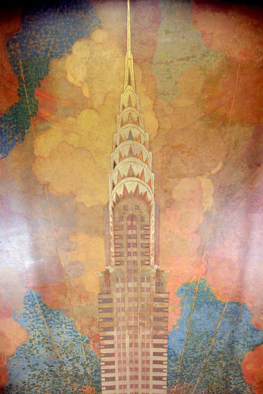 14 chrysler building ceiling mural of chrysler building by for Chrysler building mural