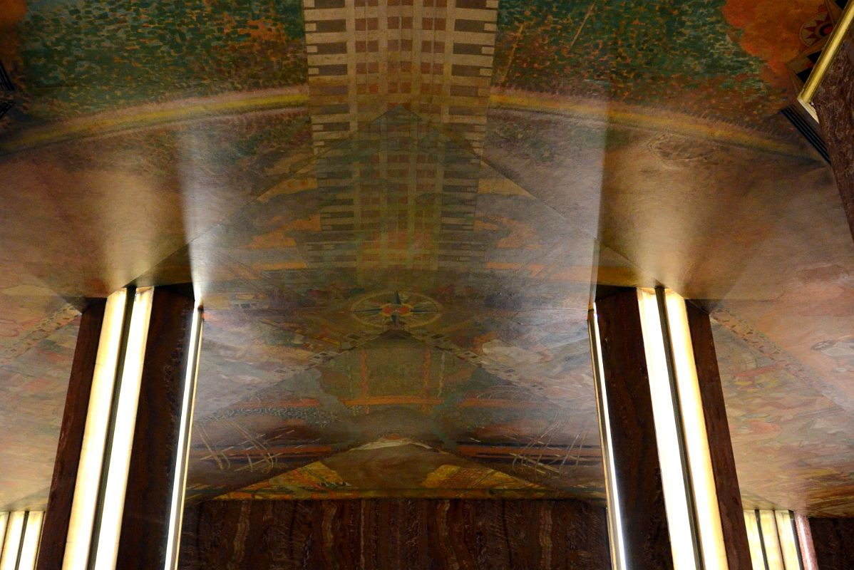 15 chrysler building bottom of chrysler building ceiling mural for Chrysler building mural