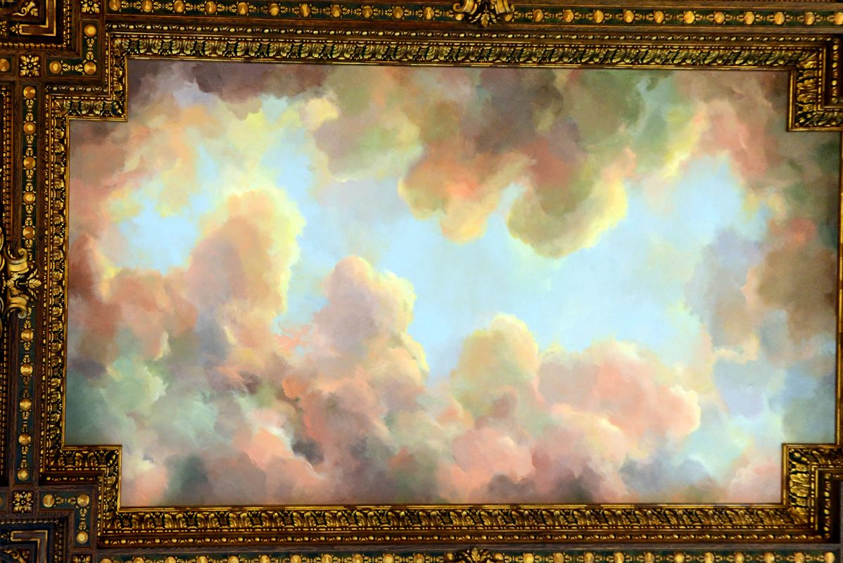23 2 ceiling mural of vibrant skies and billowing clouds for Ceiling mural clouds