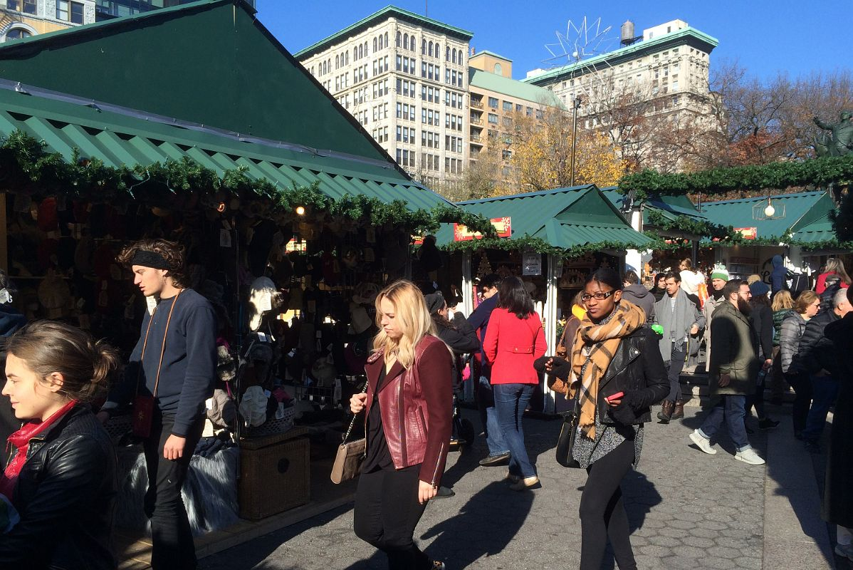 11-2 Shopping At Union Square Park Christmas Market New York City