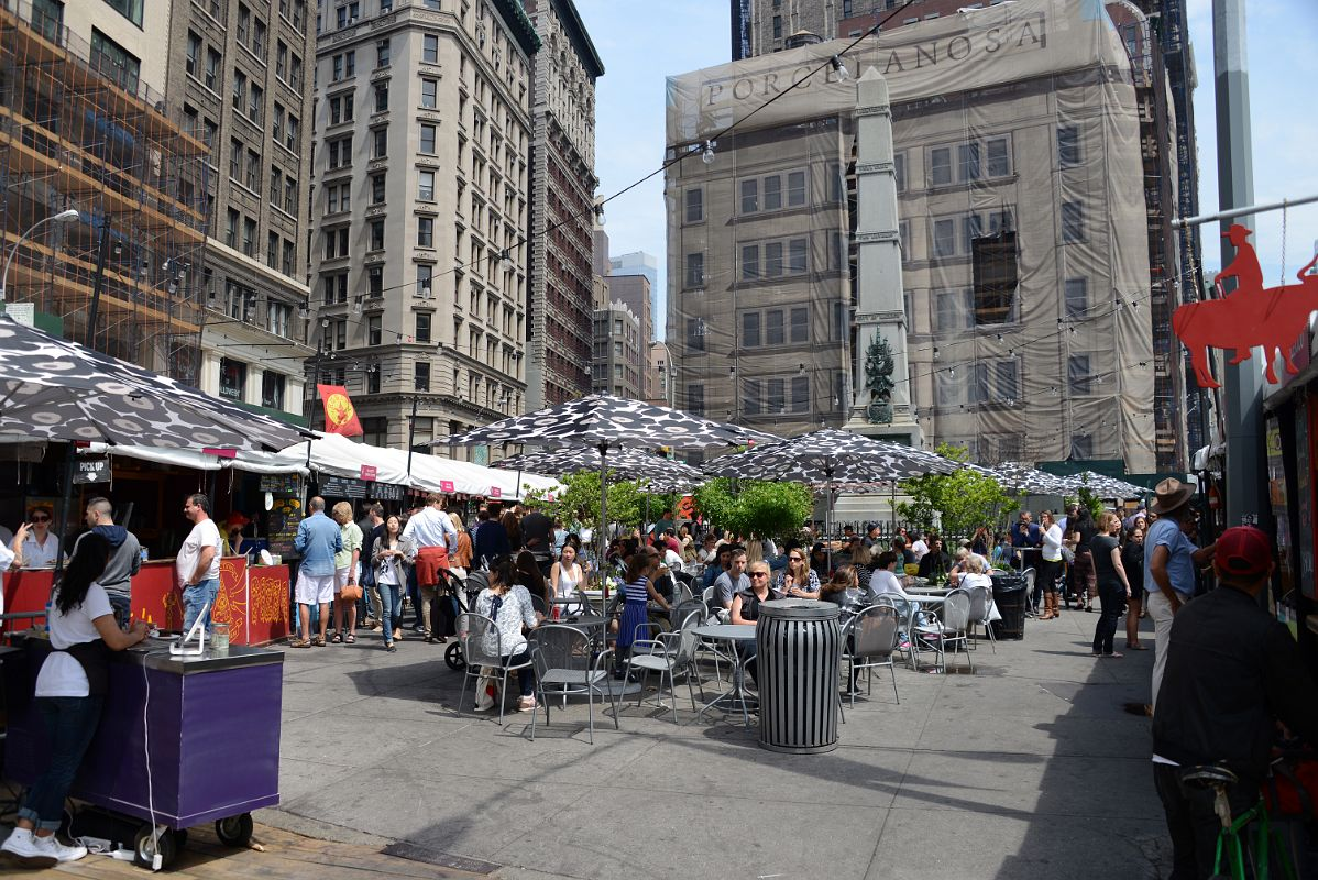 08 03 mad sq eats is a semi annual pop up food market at worth square new york madison square park