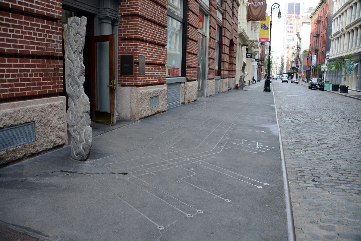 Floating Subway Map.14 1 Subway Map Floating On A Ny Sidewalk By Francoise Schein 1986