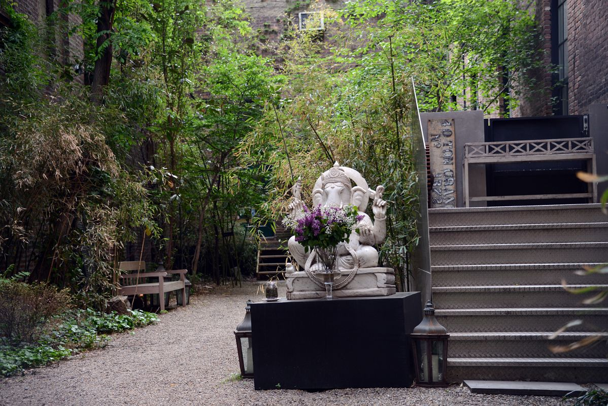 29 Statue Of Ganesha In A Small Garden On Crosby St Just North Of Broome St  In SoHo New York City