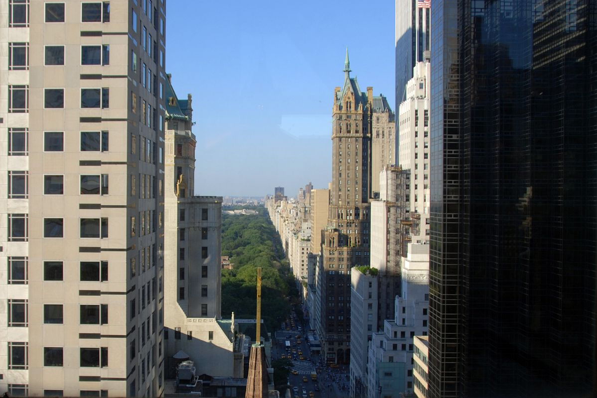 New York City Fifth Avenue 700 9 Looking Up To Central Park From The Peninsula Hotel Salon De Ning Rooftop Bar