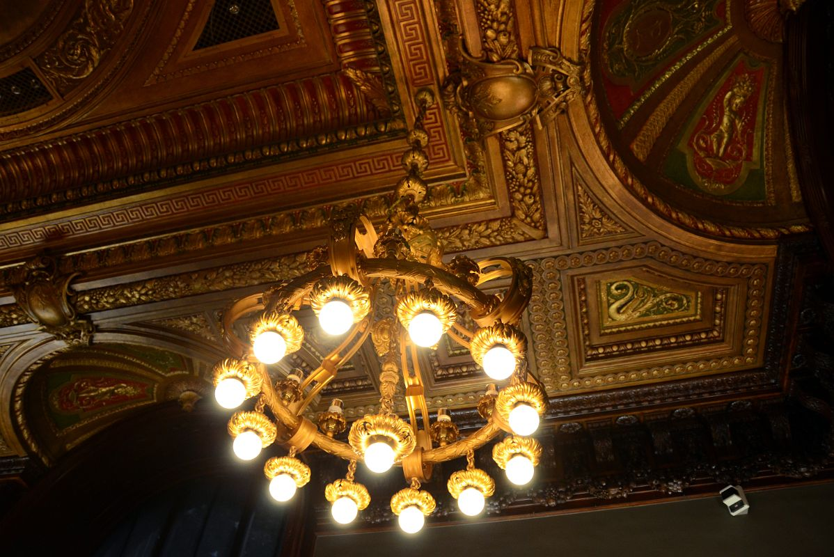 15 3 Map Division Chandelier And Ceiling New York City Public Library Main Branch