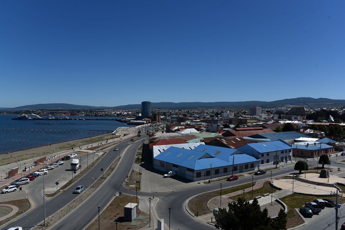 06b Panoramic View Of Waterfront Area And Downtown Punta Arenas Chile Including Modern Hotel Dreams Del Estrecho From Go De Almagro